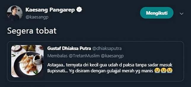 9 Reaksi kocak Kaesang Pangarep saat Jokowi disebut iluminati