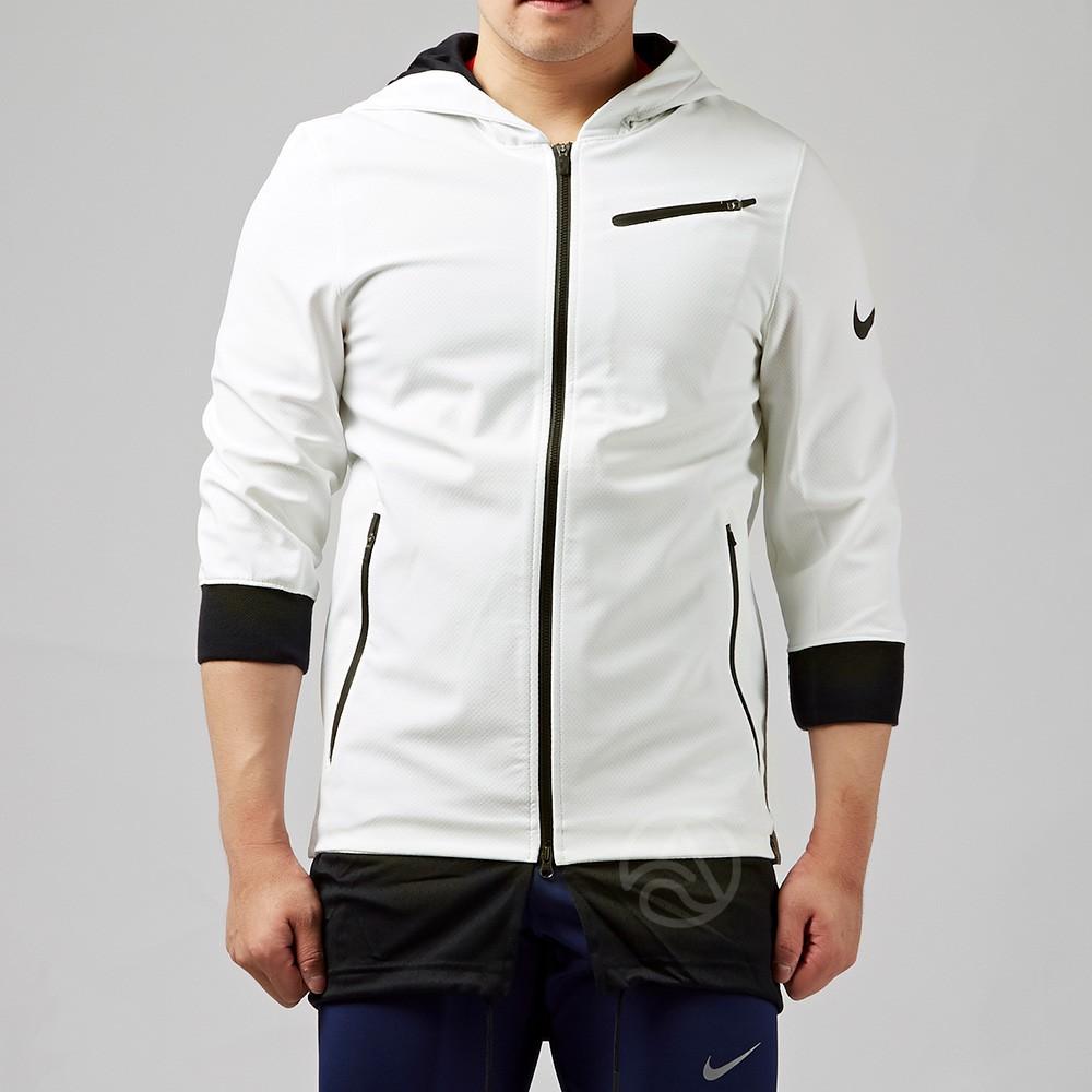 Nike KYRIE JACKET 白色 長版 下擺兩層 連帽外套 830826-100