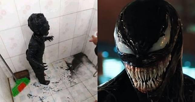 Akibat Bermain Tak Diawasi Orang Tua, Bocah ini Berubah Jadi Venom