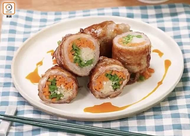 野菜與豚肉的比例剛剛好,吃起來有豬肉的鮮味之餘,亦有蔬菜的清爽口感。(互聯網)
