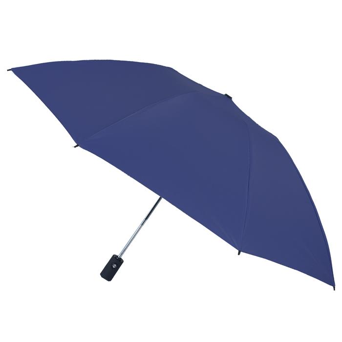 【2mm】原色調性黑膠降溫自動開收反向傘 (經典藍)