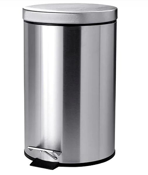 IKEA 腳踏式垃圾桶 不鏽鋼材質 超取限一個