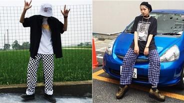 2017 大勢「睡褲 Style」!看韓國潮人如何把「格紋褲」穿出潮味!