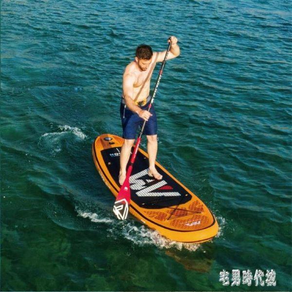 劃槳板充氣沖浪板sup漿板劃水板滑水輕風藍寶熔巖號衝浪滑板