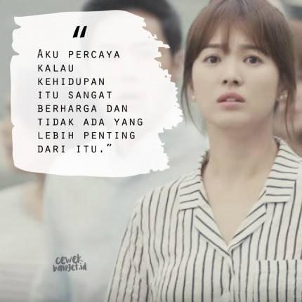 quotes kang mo yeon di drama descendant of the sun yang bikin