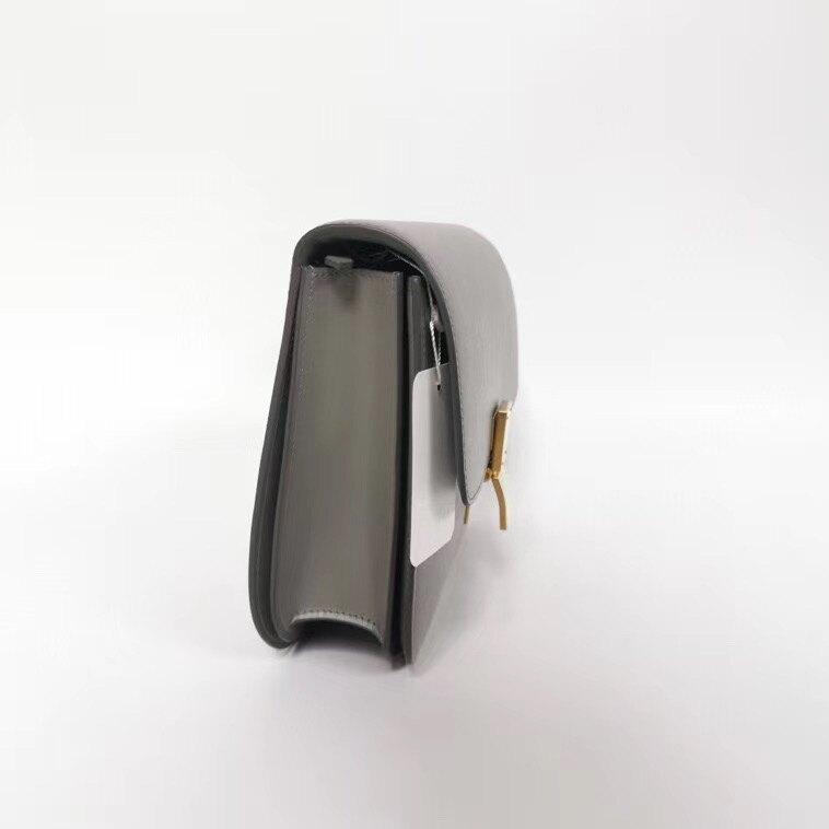 【Chiu189英歐代購】CELINE Medium Classic Box Bag 中款 豆腐包 方 肩背包 灰色