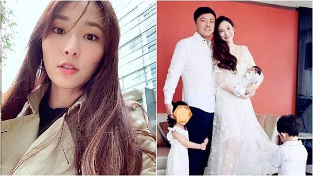 女星吳佩慈為未婚夫、富商紀曉波陸續產生下2子1女,目前肚中懷有第4胎。(圖/翻攝自吳佩慈IG、微博)