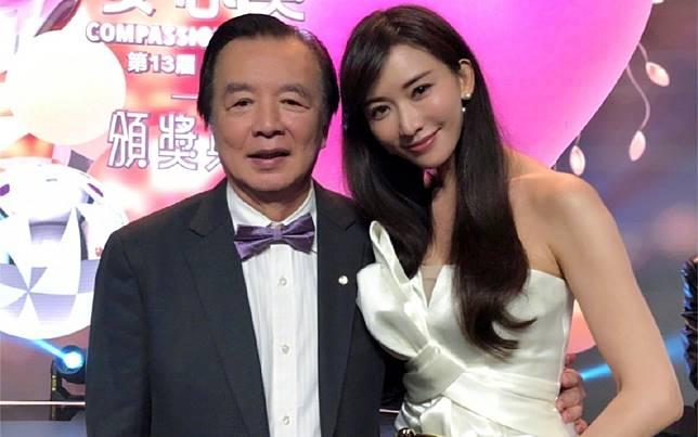 ▲林繁男(左)鬆口談女兒孕事。(圖/翻攝微博)