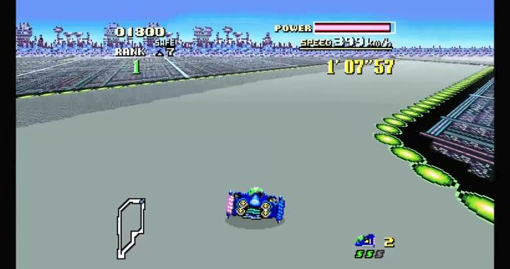 使用Mode 7圖層模式的遊戲可以拉伸為16:9寬螢幕。