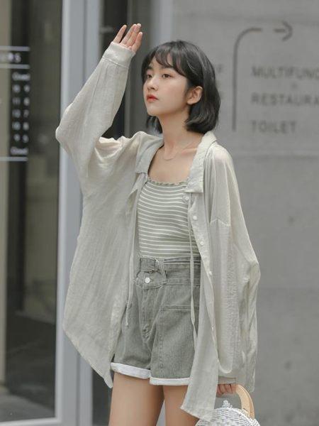 防曬衣夏季2019新款超仙女長款系帶心機設計感襯衫韓版寬松防曬衫