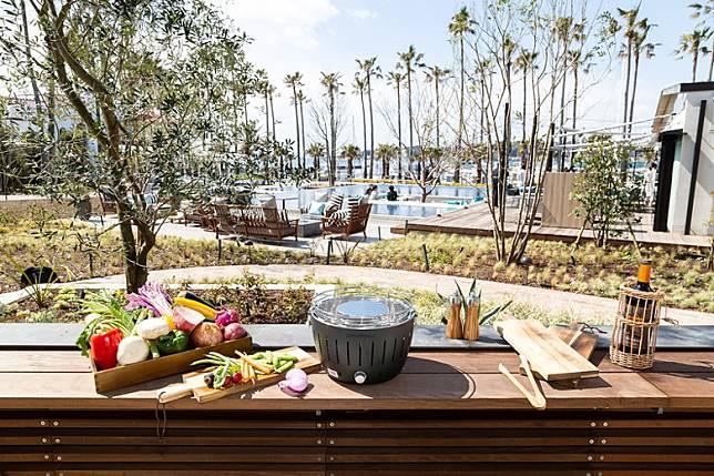 於Private Garden Terrace可享受燒烤樂趣。(互聯網)