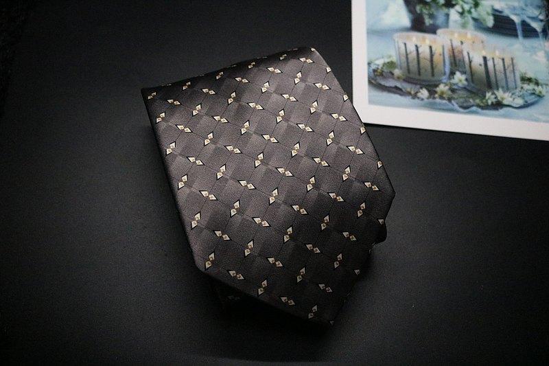高級灰商務真絲領帶,寬度支持定制