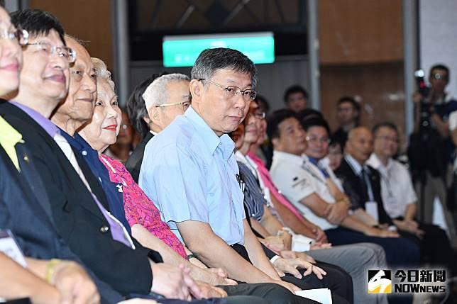 台北市長柯文哲參與台灣民眾黨成立大會。