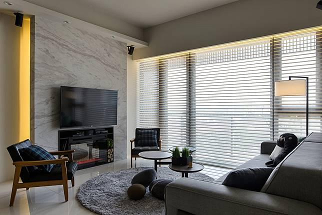 電視牆範例六:紋理風
