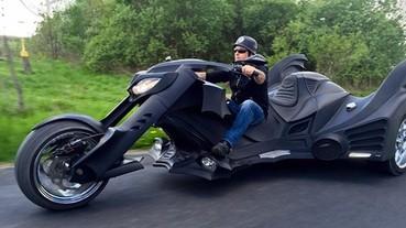 超帥氣蝙蝠摩托車 新版蝙蝠俠可以考慮用這台?!