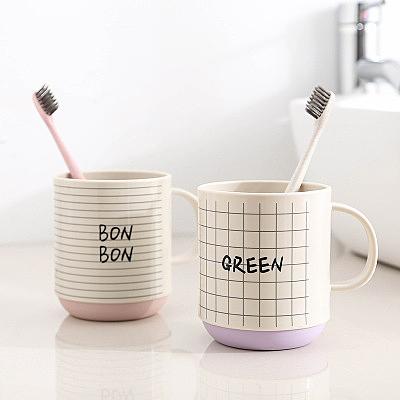 3個裝漱口杯牙刷收納盒家用洗漱杯情侶簡約可愛牙缸杯旅行牙刷盒