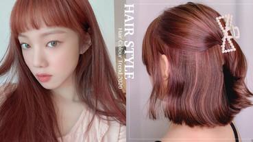 李聖經「琥珀玫瑰髮色」超仙氣!2020玫瑰髮色精選,粉棕色免漂髮,薄藤粉髮色超顯白!
