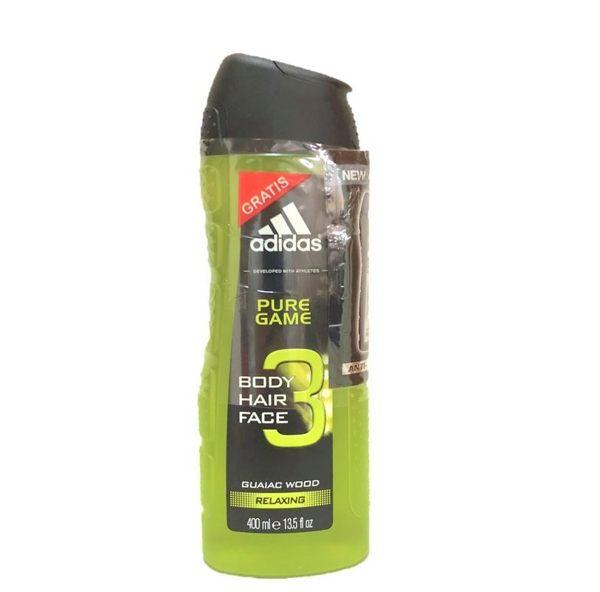 英國進口 /歐洲製造Adidas 3合1 (臉部,身體,頭髮) 沐浴乳(Pure game純靜比賽款) 大容量