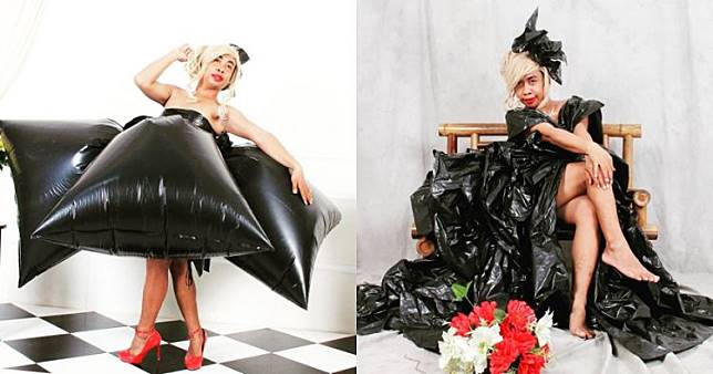 10 Gaun Mimi Peri dari kantong plastik ini nyeleneh tapi kreatif