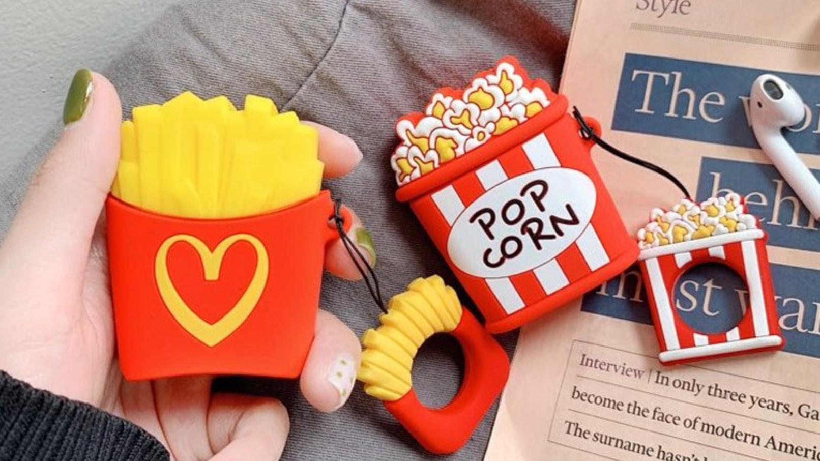 以為漢堡薯條只能吃?果迷暴動超萌AirPods充電盒保護套!