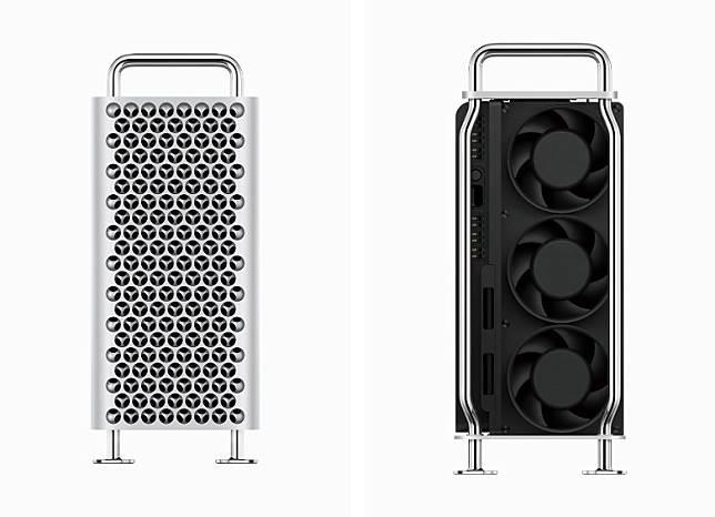 前方滿布散熱孔,並內置3把風扇以助散熱。(互聯網)
