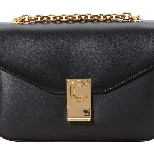 This Medium C bag in calfskin is by Celine. This piece's sliding chain enables you to wear it on the shoulder. Wear the chain single-length or doubled up, according to the desired length. A metallic C clasp brings character to this plain bag. This iconic model by the French designer offers an elegant, sophisticated look.