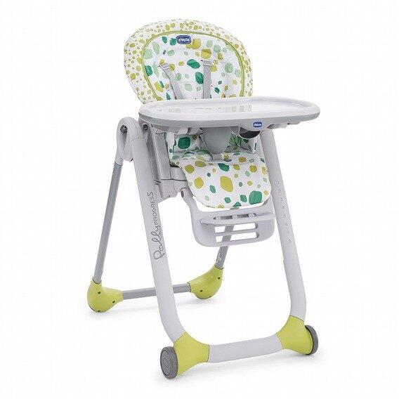 【淘氣寶寶】義大利原裝進口 Chicco Polly Progress五合一多功能成長高腳餐椅(兩輪版)-奇異果綠【公司貨】