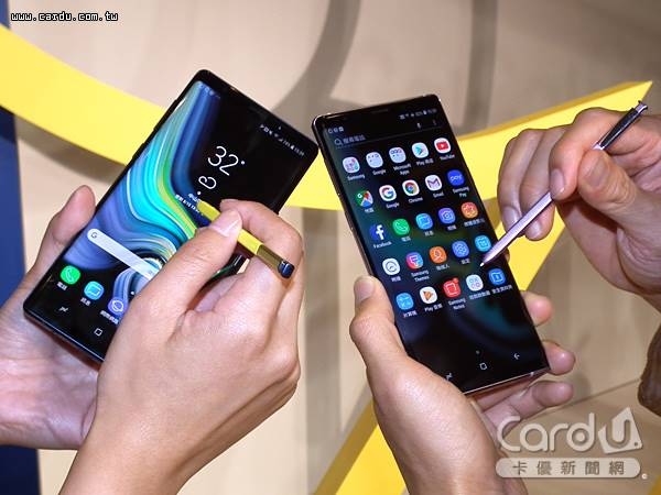 Galaxy Note 9正式登台S pen升級具低功耗藍牙功能,可遠端操控手機,還能變身簡報筆(圖/卡優新聞網)