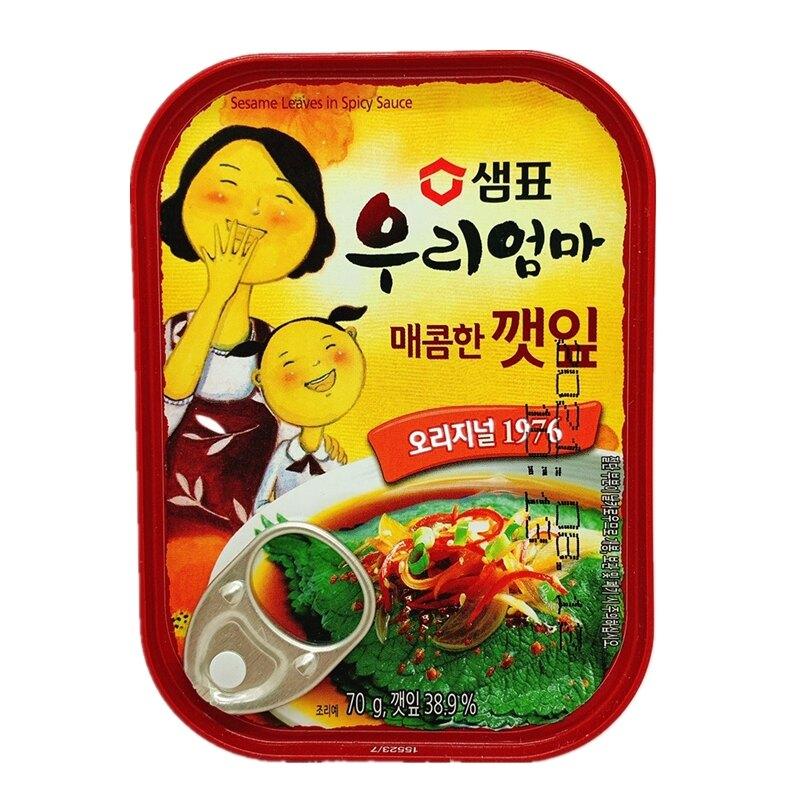 韓國芝麻葉 原味 辣味 芝麻葉罐頭