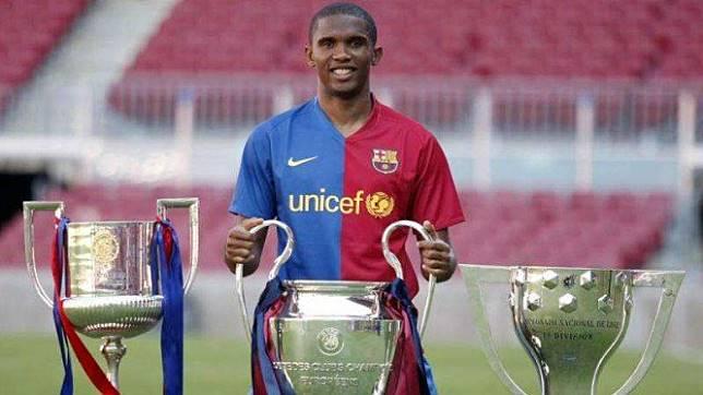 Samuel Eto'o saat masih membela Barcelona