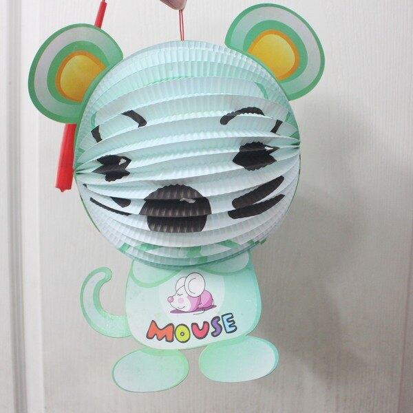老鼠燈籠 鼠年燈籠 Q版十二生肖造型紙燈籠(老鼠造型/附電池)/一個入{促99}