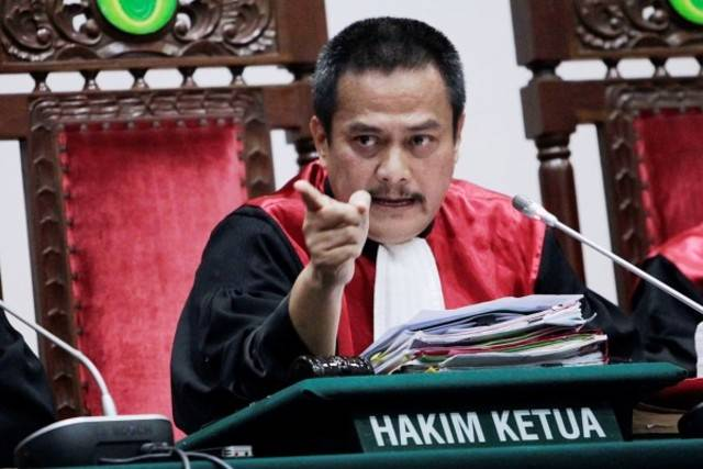 KETUA HAKIM. Dwiarso Budi, Ketua Majelis Hakim yang menjatuhkan vonis dua tahun kepada Basuki