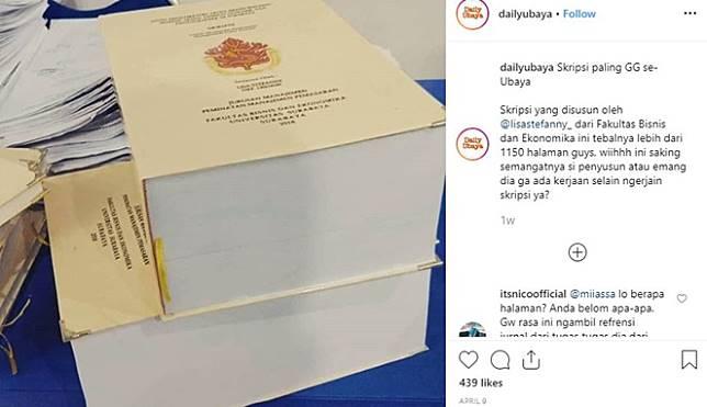 Viral Mahasiswi Bikin Skripsi Hingga 1000 Halaman Lebih Hanya Dalam Waktu 1 5 Bulan Saja Boombastis Com Line Today