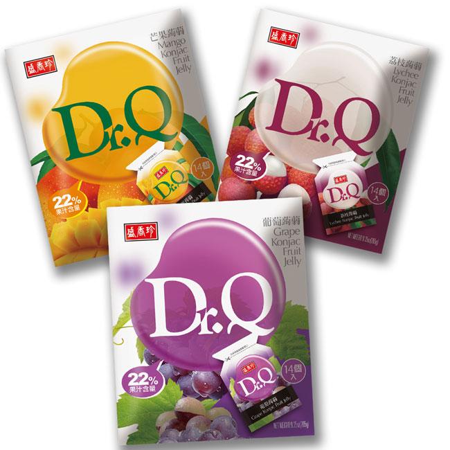 【盛香珍】DR.Q 蒟蒻(任選口味:葡萄、荔枝、芒果) (265g/包)*20包