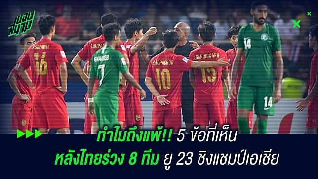 ทำไมถึงแพ้!! 5 ข้อที่เห็นหลังไทยร่วง 8 ทีมชิงแชมป์เอเชีย