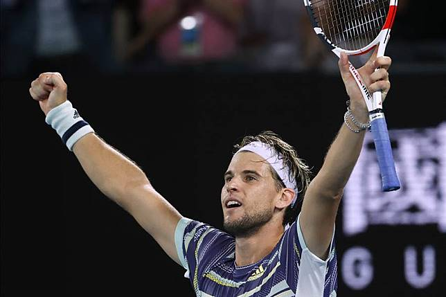 世界排名第5的奧地利好手提姆,在澳網男單8強賽擊退世界球王納達爾,生涯首闖澳網4強。
