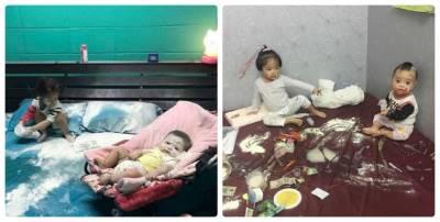 """Khắp giường sữa bột, mỹ phẩm, mẹ chưa kịp mắng đã """"cứng họng"""" vì lý do con gái 2 tuổi đưa ra"""