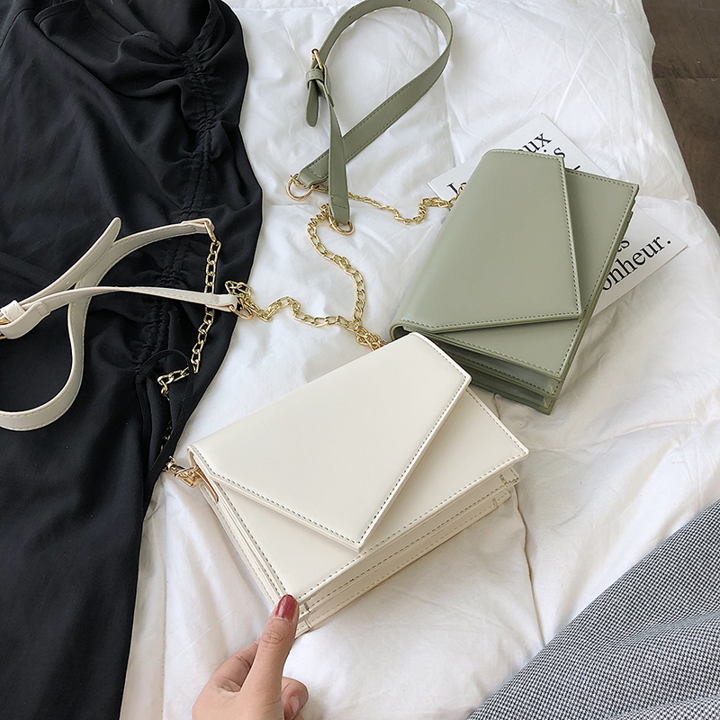 ins包包女包新款2019高階感洋氣時尚小包質感鏈條包單肩斜挎小包