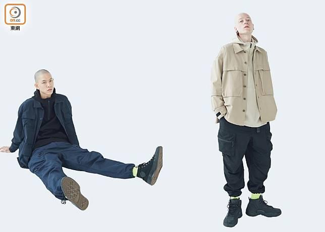 左:Multi Pockets Worker Shirt/右:Multi Pockets Military Shirt(互聯網)