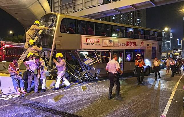 More than 30 people injured in Hong Kong bus crash