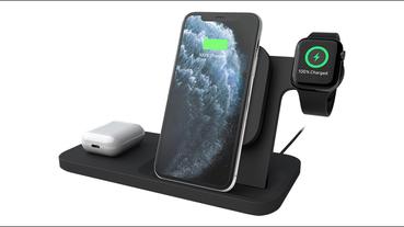 羅技 Logitech 推出三合一無線充電器,可同時為iPhone 、AirPods 、Apple Watch 充電