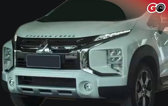 Fascia depan Xpander Cross yang akan diluncurkan Mitsubishi pekan depan di Indonesia.