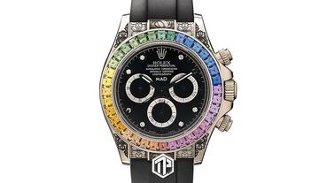 MAD Paris 打造全新 Rolex Daytona 彩虹藍寶石定製錶款!