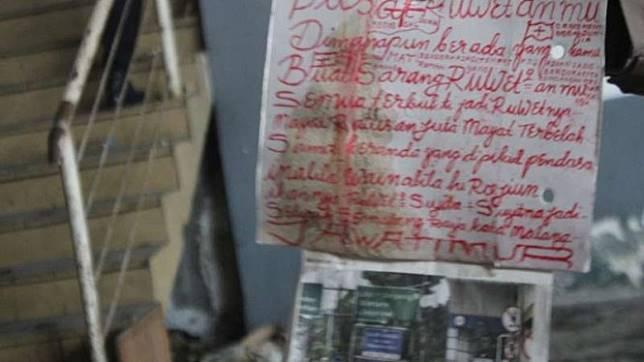 Pesan Misterius di Lokasi Penemuan Korban Mutilasi Malang