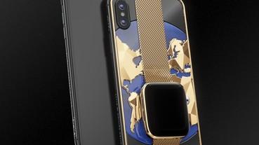 土豪的世界我不懂:先把 iPhone XS MAX鑲上鍍金 Apple Watch 4 然後開價 63 萬台幣