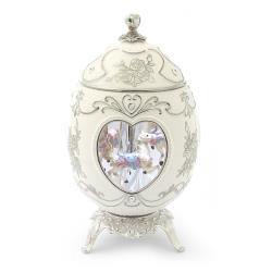 讚爾藝術 JARLL~情人節蛋型旋轉木馬 陶瓷音樂鈴(WF1501) 情人節禮物 新婚禮物 (現貨+預購)