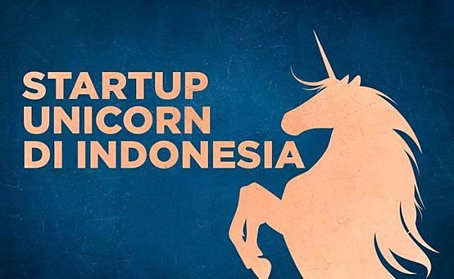Ilustrasi Unicorn di Indonesia