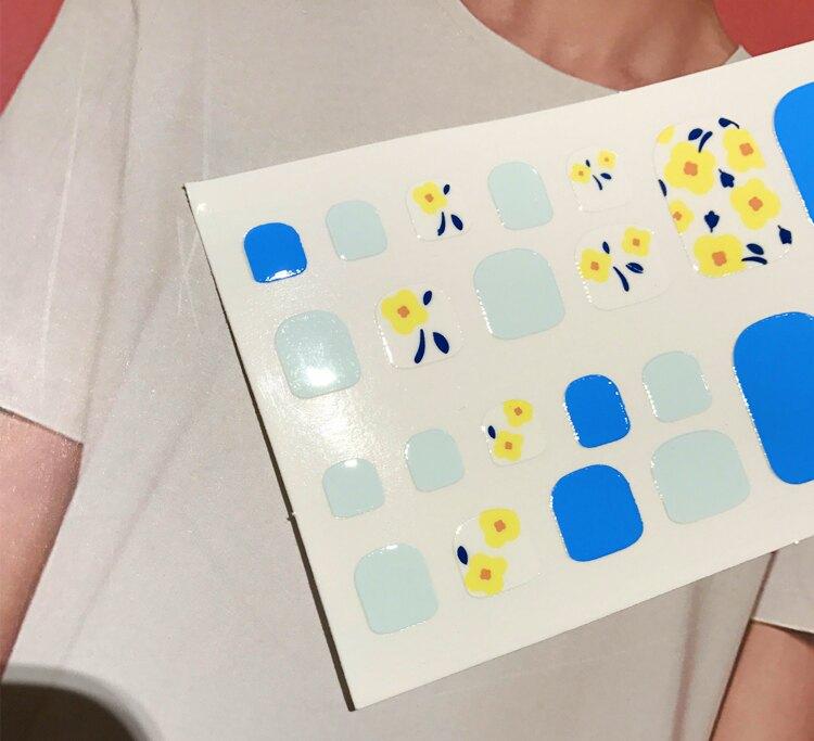 現貨~ GZ-053 【22貼美甲貼紙裸裝】碎花 防水環保全貼手指甲孕婦甲油膜貼片