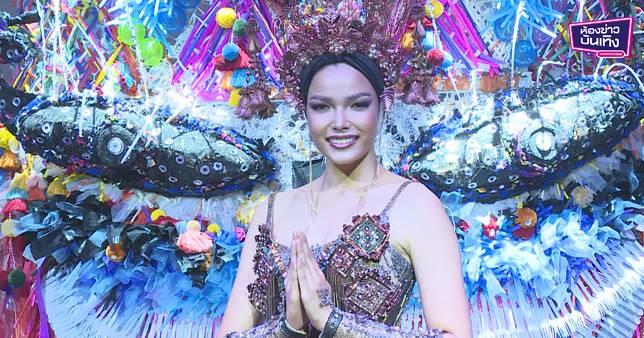 """""""ฟ้าใส"""" เปิดตัวชุดประจำชาติ """"ผีตาโขน Festival of Thailand"""""""