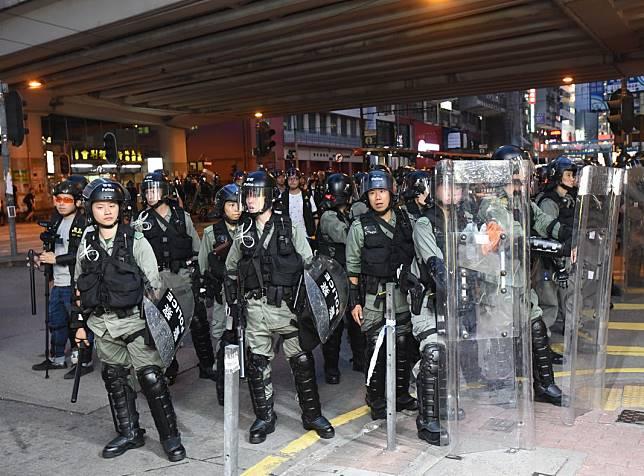 特區政府重申全力支持警方嚴正執法。資料圖片